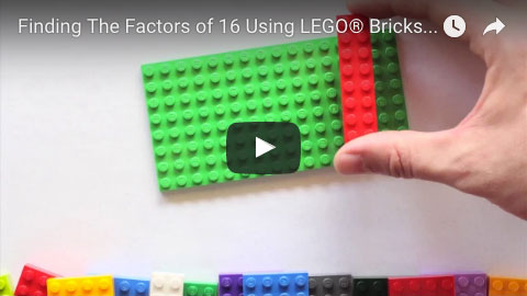 Factors of 16 YouTube Video - Brick Math Series